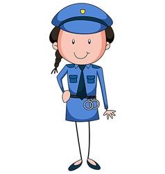 Policewoman vector image
