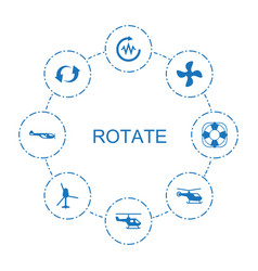 8 rotate icons vector