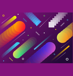 abstract geometrical shape background design vector image