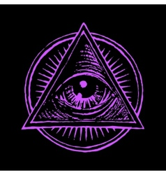 All seeing eye vector
