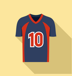 American football jersey icon flat style vector