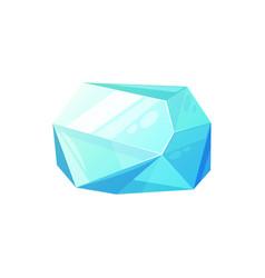 Aquamarine blue gemstone isolated emerald vector