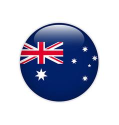 australia flag on button vector image