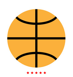 basketball ball icon different color vector image