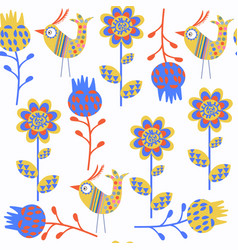 birds abstract seamless nature fantasy pattern it vector image