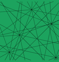 black intersecting straight lines on an emerald vector image