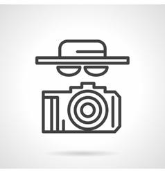 Black simple line spy icon vector image