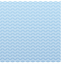 blue seamless wavy line pattern ocean stylish vector image