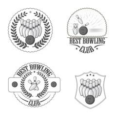 Bowling clib vector