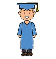 Boy graduated avatar character vector