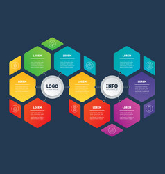 business presentation concept with 9 options vector image