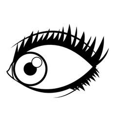 cartoon human eye look style vector image