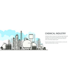 Chemical industry horizontal banner vector