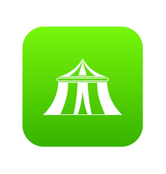 circus tent icon digital green vector image