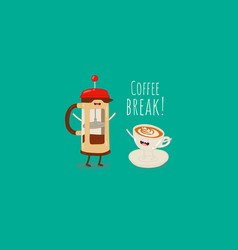 coffee brewing methods coffee french press vector image