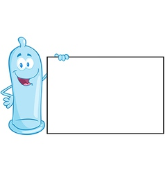 Condom Cartoon Mascot Character vector image