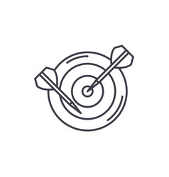 dart line icon concept dart linear vector image