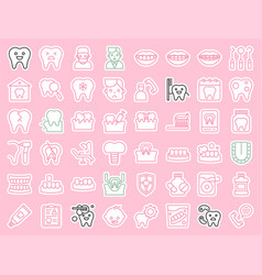 Dentist and dental clinic related icon sticker vector
