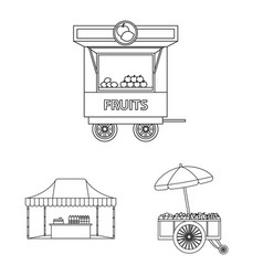 design of market and exterior symbol vector image