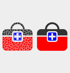 dotted and flat first-aid case icon vector image
