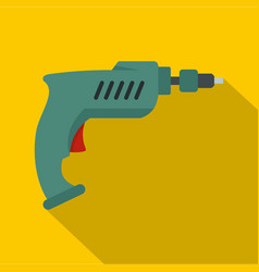 Drill icon flat style vector