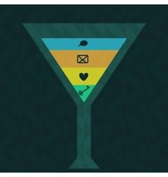 Drink background vector image