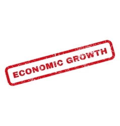 Economic Growth Rubber Stamp vector image