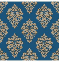 Elegance floral damask seamless pattern vector image