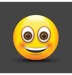 emoji smiling brown eyes vector image