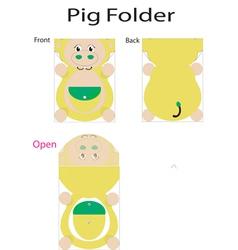 Folder pig vector
