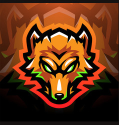 Foxes head sport mascot logo vector