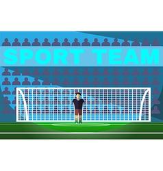 Goalkeeper playing soccer vector