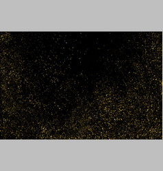 Gold glitter texture isolated on black vector