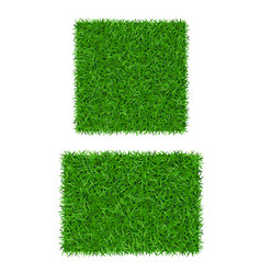 green grass background 3d set isolated lawn vector image