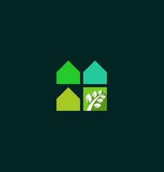 green house naturally realty business logo vector image