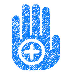 Hand medical marker grunge icon vector