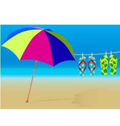 holiday beach vector image
