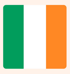 ireland square flag button social media vector image