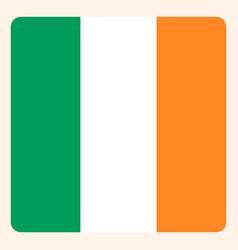 ireland square flag button social media vector image