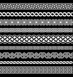 irish celtic seamless border pattern vector image