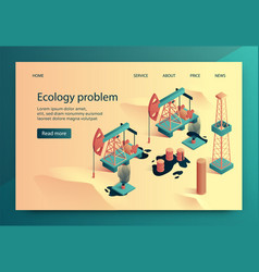 is written ecology problem vector image