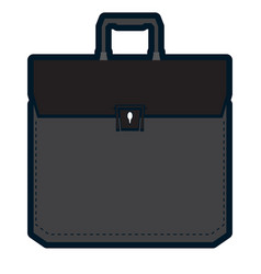 isolated business suitcase vector image vector image