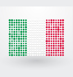 italy flag made up of dots vector image