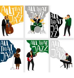 Jazz banners set vector