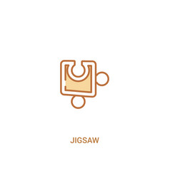 jigsaw concept 2 colored icon simple line element vector image