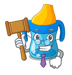 Judge baby training cup isolated on mascot vector