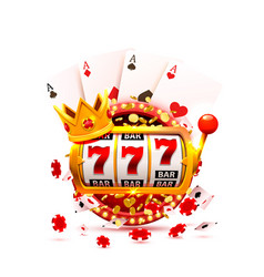 king slots 777 banner casino vector image