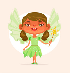 Little girl child character princess suit vector