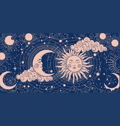 magic banner for astrology divination vector image