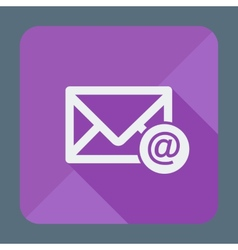 Mail icon envelope with email sign Flat design vector image